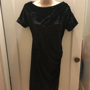 NWOT Catherine Malandrino Crushed Velvet Dress